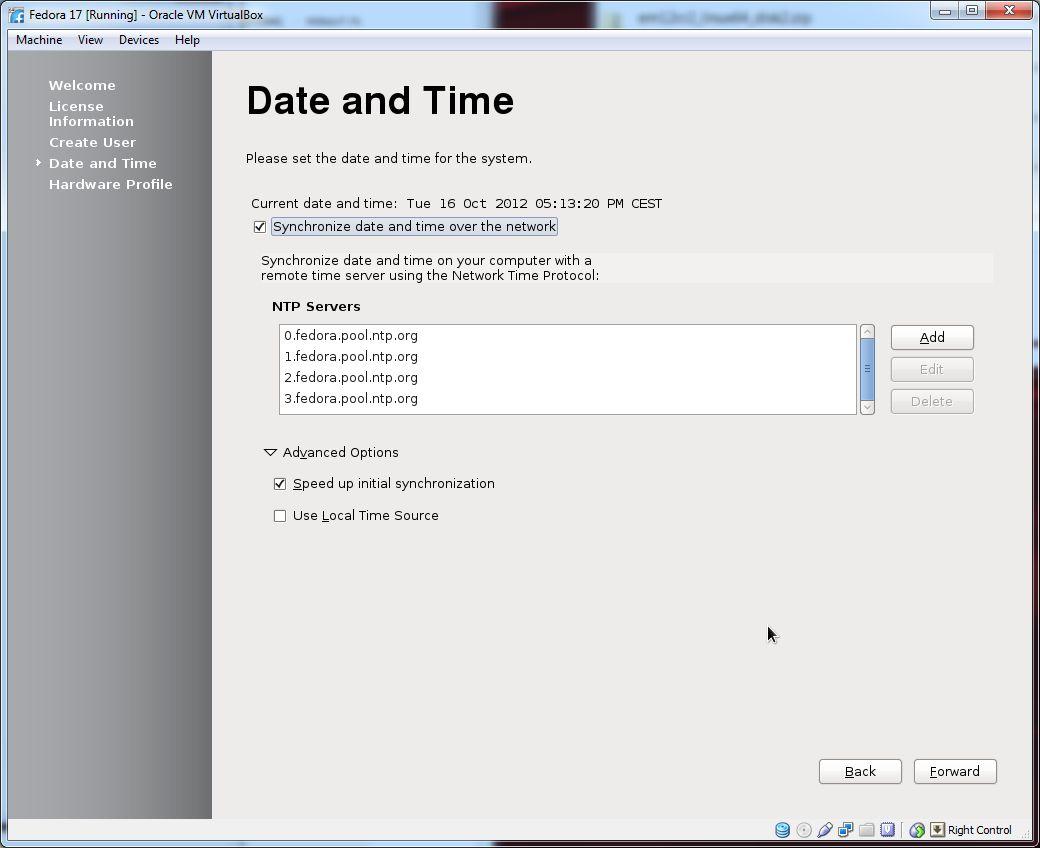 Install Fedora 17 | DBAORA