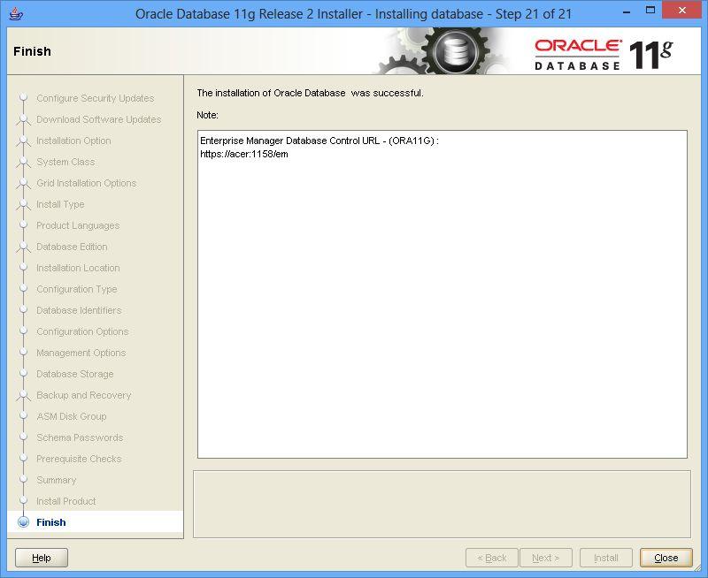 Install Oracle 11G Release 2 (11 2) on Windows 7, 8 | DBAORA
