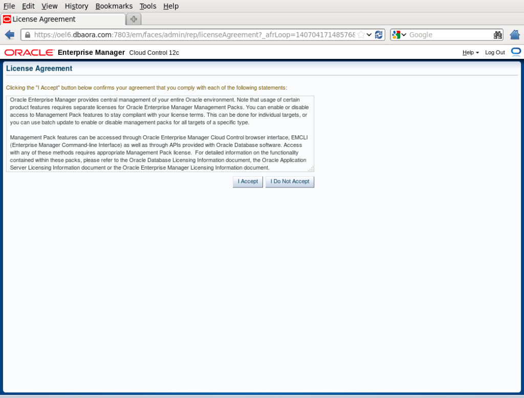 Install Oracle Enterprise Manager 12C release 3(12 1 0 3) on