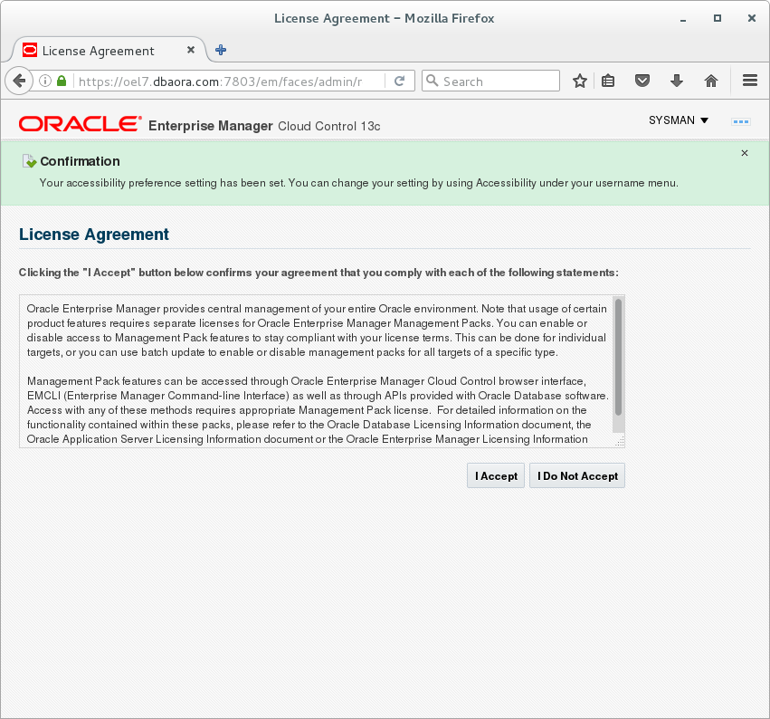 Install Oracle Enterprise Manager Cloud Control 13C release