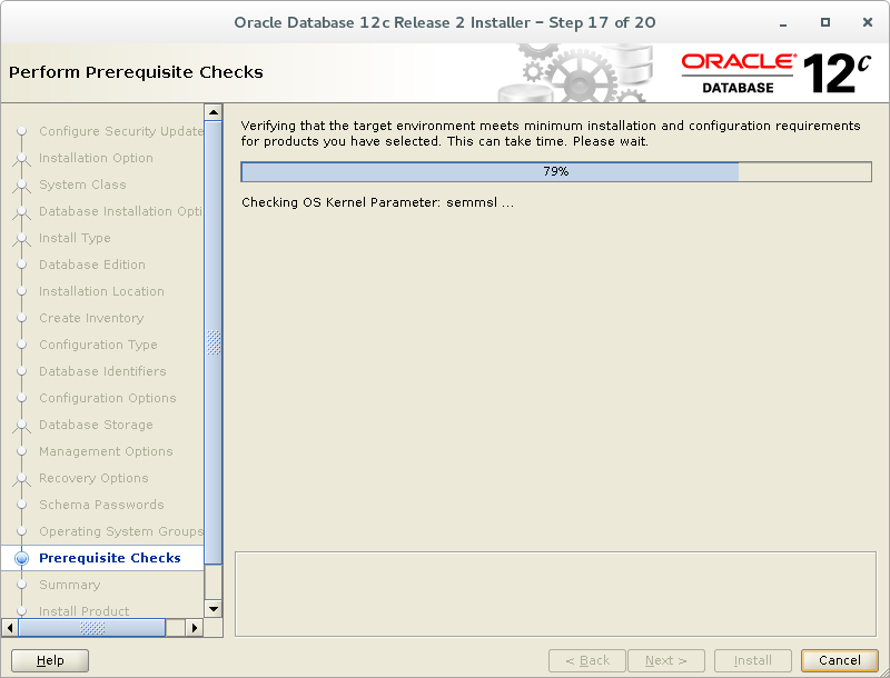 Install Oracle 12C Release 2 (12 2) on Oracle Linux 7 (OEL7