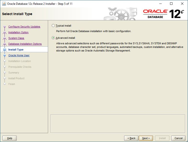 Oracle Database 12c Release 2 Windows how to install Oracle